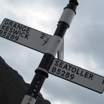 Sign to Seatoller and Keswick